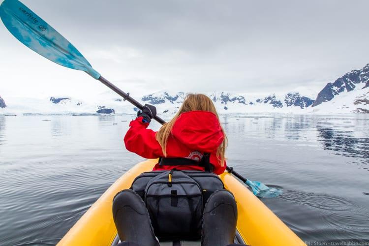 Antarctica with Kids: Kayaking in Antarctica