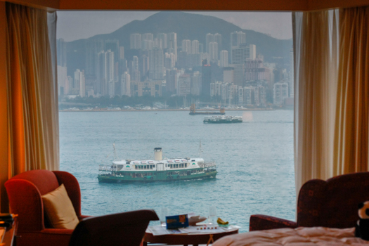 Hong Kong with Kids - The view from our room at the Shangri La Kowloon