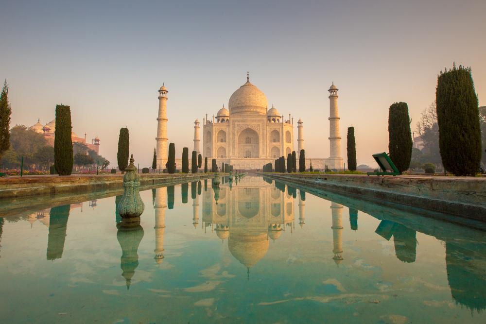 The Taj Mahal, early.
