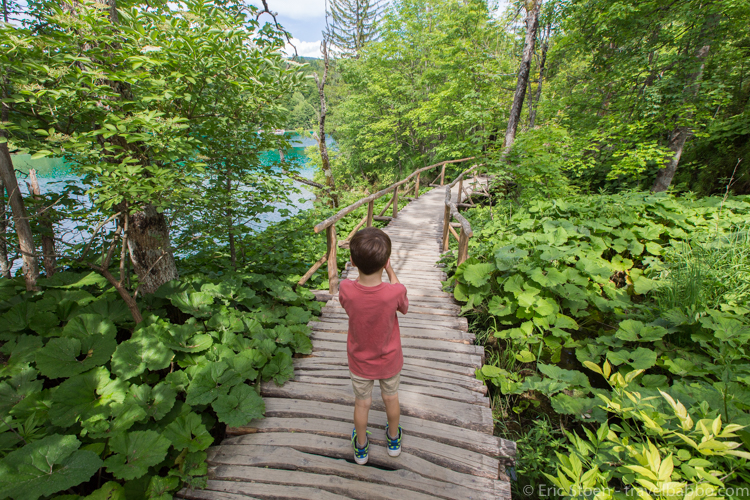 Croatia with kids - Photographing at Plitvice Lakes National Park
