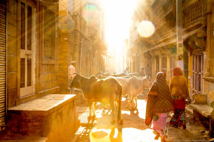 Bucket List - Walking around Jaisalmer, India early in the morning