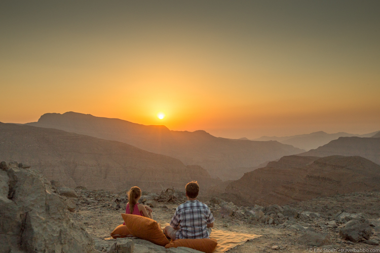 Six Senses Zighy Bay - A sunset picnic with a view!