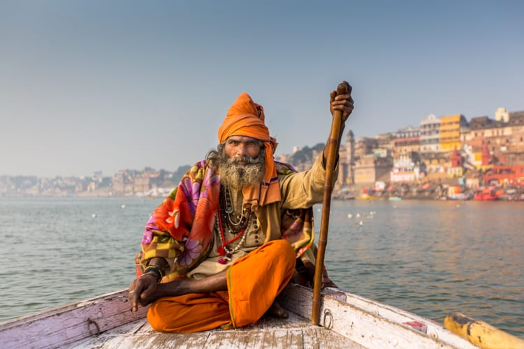 Travel Photography Tips - A sadhu (holy man) In Varanasi, India