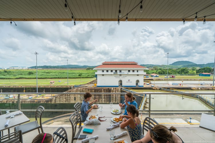 Panama Family Travel - Dining at the Panama Canal