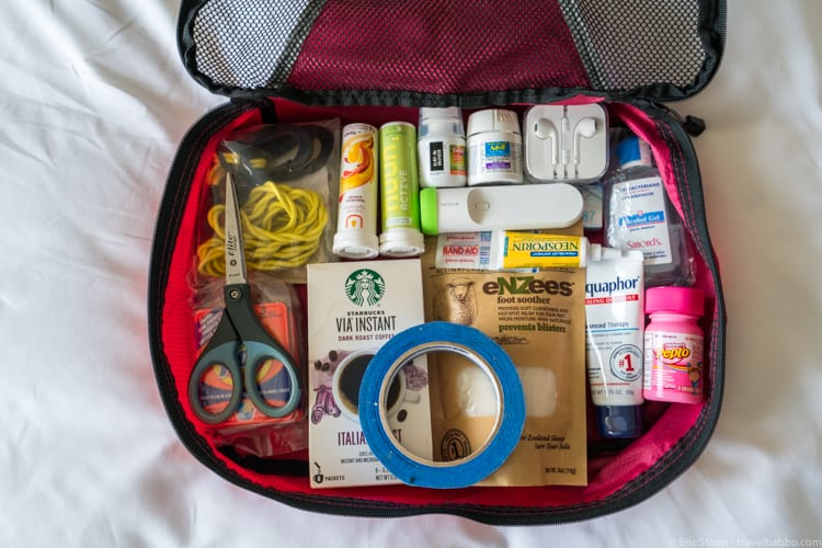 Packing List: Our packing cube in Japan. No it's not usually this organized.