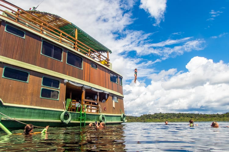 Amazon Rain Forest with Kids - Swimming in the Rio Negro