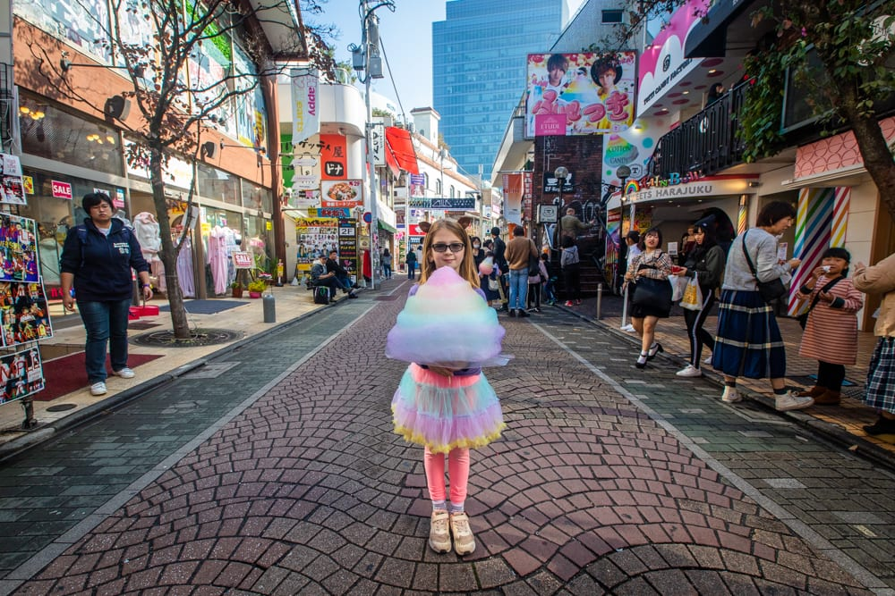 Cotton candy in Tokyo